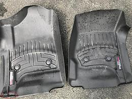 Ford F250 Weathertech front and rear floor mats