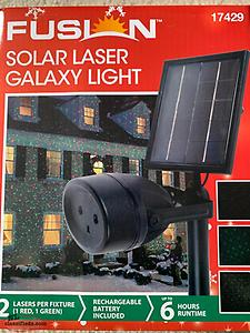 Brand New In box Christmas Solar Powered Laser Lights