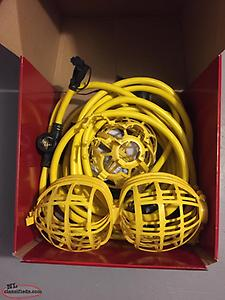 50 foot 5 socket temporary String Worklight for Sale