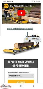 brand new Frontier sawmill