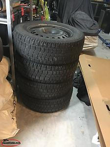 8 Tires and 4 Rims (235/65R/17)