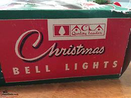 Vintage Christmas Bell Lights