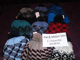 Knitted Hat & Mitten Sets