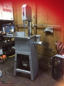 Meat Saw with Meat Grinder Attached