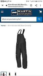 Looking for a pair of klim snow bibs size xl
