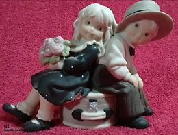 "Kim Anderson Collection (201693) - ""Just You And Me Always"" Ceramic Figurine"