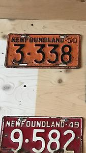 Newfoundland license plate