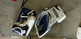 Vaughn velocity goalie pads (33+2), glove(left)and blocker