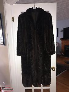 Genuine Muskrat Fur Coat