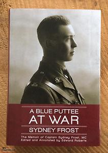 WWI Frost, Blue Puttee at War, hardcover, signed