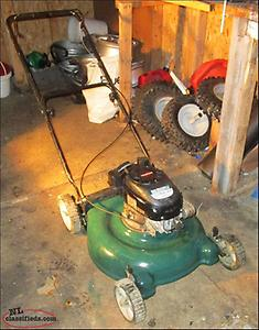 LAWNMOWER AND GAS GRASS TRIMMER