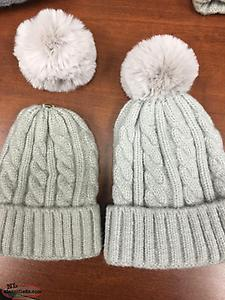 Brand New Matching Mommy and Baby Hats with Removable Pom-Pom!