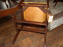 Antique Dining Table and Four Chairs