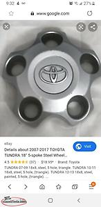 "wanted center caps for 18"" toyota tundra wheels"