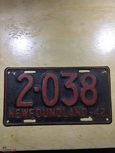 Old Newfoundland license plates wanted
