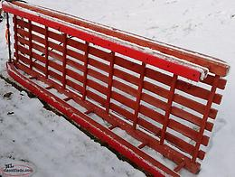 Hand Crafted Wooden Sleigh (New Price)