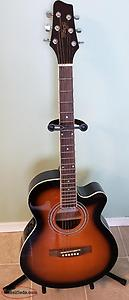 BRAND NEW Stagg Acoustic-Electric Guitar with Accessories!