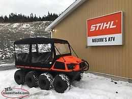 2019 Aurora 800 8x8 with Windshield and Canopy