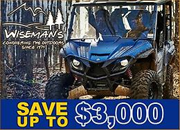 SAVE UP TO $3,000 ON WOLVERINE X4 or X2 SXS!
