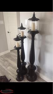Wanted To Buy These Three Candles And Holders Life Size