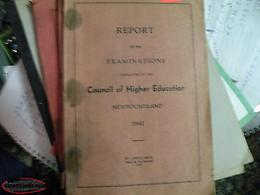 Newfoundland book; Report 1941 Council of Higher Education