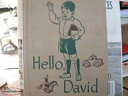 Newfoundland antique NL School Book, HELLO DAVID