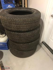 "18"" Michelin Primacy XC tires"