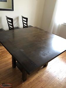 Solid Wood Dining Room Table/8 Chairs