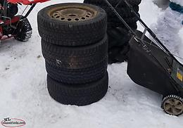 205-55-R16 studded tires on rims