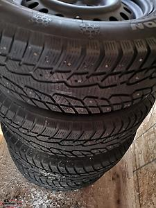 235/65R17 Winter Studded Tires and Rims