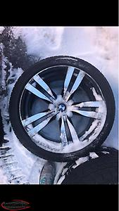 "20"" BMW Rims And Winter Tires"