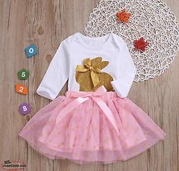 NEW PRICE Easter outfit: Girl's Baby Romper & Skirt 2pc Set (4 Sizes Available)