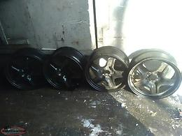18 inch steal wheels black