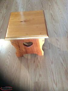 Hand crafted milking stool.
