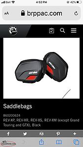 Skidoo saddle bag