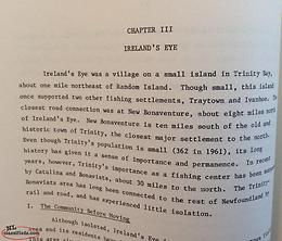 Resettlement Ireland's Eye and other islands