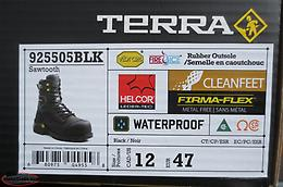 "Terra Sawtooth 8"" Safety Work Boots in Size 12 - Brand New!!"