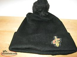 2 WINTER STOCKING CAPS BLACK NBA CAVALIERS & BOSTON CELTICS