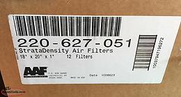 Stratadensity air filters ( Box of 12) (not opened) Size...18x20x1
