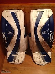 GREAT DEAL ! Hardly used . Reebok Pro Goalie Pads