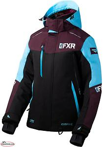NEW Women's FXR RENEGADE FX JACKET RENEGADE FX PANTS Size 8 Black/Plum/Sky Blue