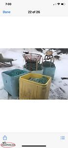 For Sale four Fish Tubs of 9/16 PolyRope (Tubs not for sale)