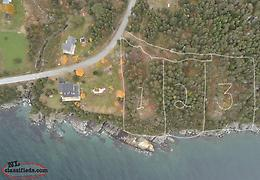 Oceanfront land for sale - 3 building lots, each aprox 3/4 acres on Cupids water