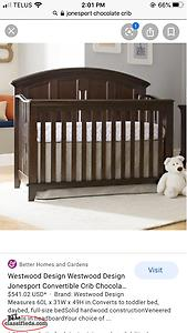 Jonesport Crib Chocolate Brown