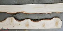 Planed and sanded live edge wood