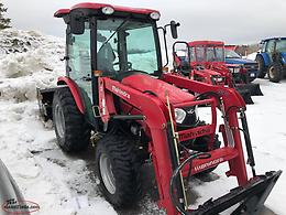 Used 2018 Mahindra 2538 Tractor with Snow Blade and Rear Snow Blower