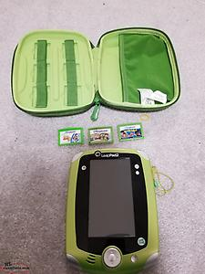 tablet-preschool/toddler. leap pad 2 with games, case.