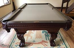 "Brand New 8' Solid Wood, 3pc 1"" Slate Pool Table"