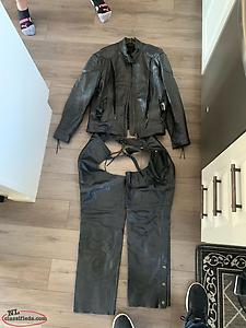 Womens Leather Riding Jacket And Chaps