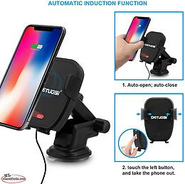 Detuosi Automatic Infrared Car Wireless Charger Mount Fast Charging